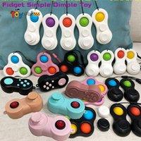 Controladores de juego Squeeze Switch Toy Steter Relieve Fidget Toy GamePad Decomp Mandar con cadena y caja DHL