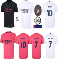 Homens Crianças + Meias Real Madrid Jersey Soccer Quarto 20 21 Hazard Asensio Sergio Ramos Camiseta 2021 Vini Jr Mendy Menino Futebol Camisas