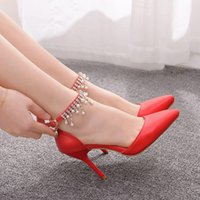 Dress Shoes Crystal slippers, girly wedding queen, sexy prty shoes with buckle round her nkle for dnce dress. GEYV