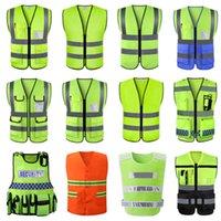 Canteiro de saneamento ambiental de segurança reflexivo Multi roupas fluorescentes colete de bolso
