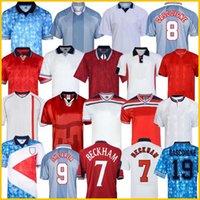 1996 잉글랜드 복고풍 축구 유니폼 개스 코인 SHEARER McManaman SOUTHGATE 클래식 빈티지 셰링엄 (96) (98) 집에 떨어져 베컴 축구 셔츠