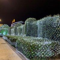 Cordes de lumières nettes LED 110V- 220V 24V 30V Décoration de mariage Fée de Noël String Light Holiday Festival Multi Extérieur Lampe de jardinage
