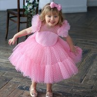 Girl's Dresses Baby Girl 4-10 Years Flower Dress Summer Party Kids For Girls Children Clothes Wedding Princess