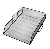 Diğer aksesuarlar Siyah oniketim metal örgü masaüstü dosya sıralayıcı masa tepsi organizatör nilws zeteB