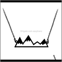 Necklaces Hollow Mountain Necklace Peak Pendant With Sier Gold Chain Fashion Jewelry For Women Men Gift Drop Lphwd 0Lax3