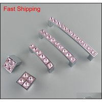 Pulls Hardware Building Supplies Home & Garden Drop Delivery 2021 Crystal Glass Series Diamond Pink Furniture Handles Knobs Dresser Der Wardr