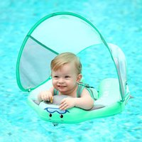 Life Vest & Buoy Kids Baby Swimming Ringswith Canopy Swim Ring With Sun Shade No Inflatable For Accessories Floating 529