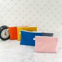 Borse di stoccaggio Coloful Blank Blank Canvas Zipper Pentola Casi Penna Penna Penna Cotton Bag Cosmetico Borsa per il trucco Mobile Clutch Organizer HWD5938