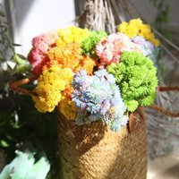 Faux Floral Greenery 5 Color Real Touch Soft Rubber Artificial Rice Tsai Ball Fruit Hydrangea Simulation Fake Flower Succulent Plant 2022 V2