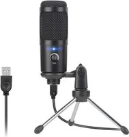 Professional Studio Microfono USB Cablato condensatore Karaoke Mic Computer Microfoni Computer Microfoni Shock Mount + Berretto in schiuma + Cavo per PC Taccuino