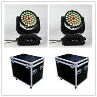 Effetti 8 pezzi con flightcase LED RGBWA Zoom 36 x 15w 5 in 1 RGBAW Ring CoTrol BrightHover Light Testa di luce