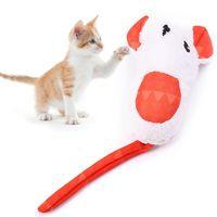 Dorakitten 1pc Cute Cat Toy Funny Built-In Catnip Fat Mouse Shape Chew Toys Interactive Pet Supplies Favors