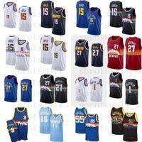 15 JAKIC JAMAL 27 MURRAY 1 Porter Jr. Basketball Jersey Mens Allen 3 Iverson Carmelo Anthony Dikembe 55 MUTOMBO Retro camisa