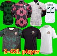 S-4XL 20 21 멕시코 선수 축구 유니폼 멀리 H.Lozano Dos Santos chicharito 2021 국가 대표팀 스포츠 축구 유니폼 셔츠