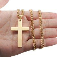 Croce Jesus ciondolo collana lega liscia vintage moda coppie di moda gioielli social raccolta regalo feste Prodotti elettroplainici