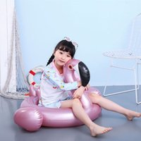 Rose Gold, Red Flamingo And White Swan Seat Baby Inflatable PVC Swimming Ring Life Buoy Water Playing Toys Supplies Spot Wholesale