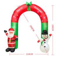 قاد زينة عيد الميلاد نفخ نموذج عيد الميلاد مشهد الديكور الحلي سانتا كلوز ثلج هوم حديقة مدخل ترحيب قوس XD24810