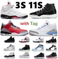 Erkek Basketbol Ayakkabı 14 S Gym Kırmızı Toro 11 25th Yıldönümü Concord 45 Uzay Reçel Bred Kara Kedi 4 Kutusu Sneaker Trainer Ile