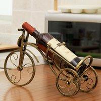 Винная бутылка дисплей стенд настольный ретро велосипед модельный стойка дома крыльцо ремесло украшения спальня бронзовые практические скульптуры стойки