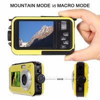 Caméscope vidéo à double écran de caméra numérique sous-marine sur l'eau sous-marine pointe et pousse des caméras VH99
