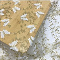 African Wedding Fashion Tulle Butterfly Lace for Dress,Diy Curtain Sewing Patchwork Materi Fabric Cloth