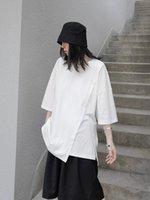 Women's T-Shirt SuperAen 2021 Japanese Asymmetric Irregular Summer Design Fashion Loose Short Sleeve Clothes Women