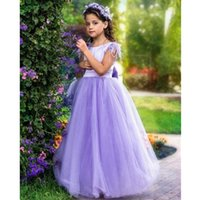 Feather Flower Girl Dresses for Weddings backless Floor Length A Line Child Birthday Party Gowns First Communion Dress