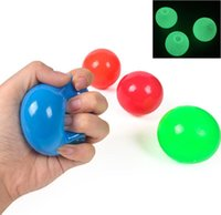 Latest Ceiling Sticky Wall Ball Toys Luminous Glow In The Dark Squishy Anti Stress Balls Stretchable Soft Squeeze Adult Kids Party Gift