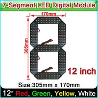 Display 12 Inches 7-segment LED Number Module, Red, Yellow, Green, White 4 Color Optional,LED Digital Module,Oil & Gas Price Screen