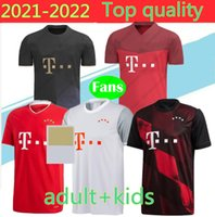 Top Thailand Baye Munich James Rodrigu 2021 성인 + 키즈 Lewandowski Muller Jersey 20 21 축구 셔츠