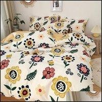 Bedding Supplies Textiles Home & Gardenbedding Sets Comforter Set Bed Linen Cotton Soft Duvet Er Family King Queen Size Luxury 3-4Pcs Drop D