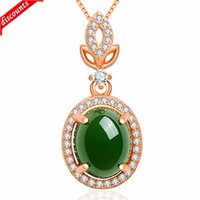 Rose chalcedony pendant natural jade imitates Russian Hotan egg shaped Jasper Pendant Jade Necklace jdz770
