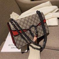 التسوق 2021 حقيبة المرأة حقيبة يد حقائب اليد المحدودة نمط سلسلة جلد طبيعي الكتف حقائب crossbody قطري