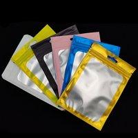 Pacotes de embalagem de embalagem de folha de alumínio colorido Bolsa de bloqueio de correr de correr um lado lateral claro cheiro de plástico cheiro