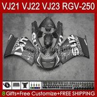 Bodys för SUZUKI RGVT RGV 250CC 250 CC Pearl Grey Stock RGV-250 Panel RVG250 20HC.151 RGVT-250 90 91 92 93 1994 1995 1996 RGV250 SAPC VJ22 1990 1991 1992 1993 94 95 96 Fairings