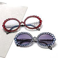 Sunglasses Rhinestone Mosaic Y2k Women 2021 Quality Alloy Frame Anti-uv Goggle Sun Glasses Eyewear Gafas De Sol