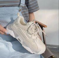 Respirável velha sapatos ins maré verão estilo fritado malha super fogo casual sapatilhas de esportes brancos