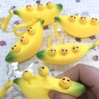 Decompression Fidget Brinquedo de Chaveiro Bonito Banana Pintainha Feliz Bola De Ventildade Crianças Esprema Brinquedos Aliviar o Autismo em Adultos, Tome-o com você,