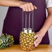 Créatif 304 Acier inoxydable Ananas Pepeer Machine Corer Slicer Cutter Barer Multifonctionnel Manuel Peeler Peeler Outil de cuisine