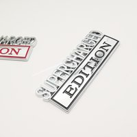 Araba Sticker Supercharged Edition Kamyon 3D Mektubu Çamurluk Amblem Rozeti Sticker Çıkartması