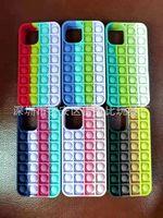 For iPhone 12 Cross-Border Novelty Games Rat Eradication Pioneer push pop it fidge silicone phone case interest colorful decompression Creative finger bubble