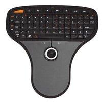 Мини Беспроводная клавиатура и удаленный трекбол Воздушная мышь Ультраслый Мультимедийный элемент управления Функция для HTPV Android TV Box Клавиатуры