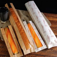 Long Baguette Bags Laminating Kraft Paper Window French Baking Package Specials Packaged Bread Packing Bag Home Party Gift Wrap