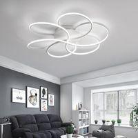 Chandeliers Nordic Modern Led Chandelier For Living Room, Study, Bedroom, 110 220 V Dimming, Indoor Lighting