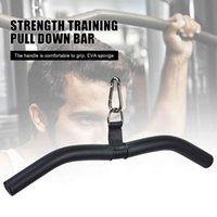 Barra extraíble de Lat Multifuncional, accesorio para máquina de cable, ejercicios de tríceps Músculos de la espalda en forma de arco Barras de cámaras cortas Accesorios