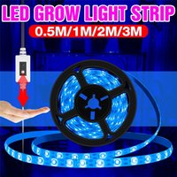 5V USB LED Grow Lights Strip Hand Sweep Lamp Plants Tent Full Spectrum Fitolampy Flower Seedling Plant Light Growing Phyto Lamps