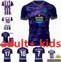 21 22 Jerseys de football Valladolid Real Fede S. Sergi Guardiola Oscar Plano Camisetas de futbol 2021 2022 Kit pour enfants adulte Kit de football shirts