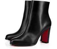 Kış En Kaliteli Marka Kadın Kırmızı Alt Adox Ayak Bileği Çizmeler Bayan Patik Yüksek Topuklu Booty Seksi Parti Gelinlik EU35-43, Kutusu Ile