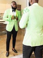 Handsome One Button Groomsmen Shawl Lapel Groom Tuxedos Men Suits Wedding Prom Dinner Man Blazer(Jacket+Tie+Pants) T361
