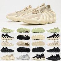 2021 Otantik 450 Bulut Beyaz H68038 Açık Ayakkabı Terlik Erkek Kadın Koyu Slate Bulut-Siyah Kanye Batı Dalga Koşucu Sneakers 36-47 F3or #